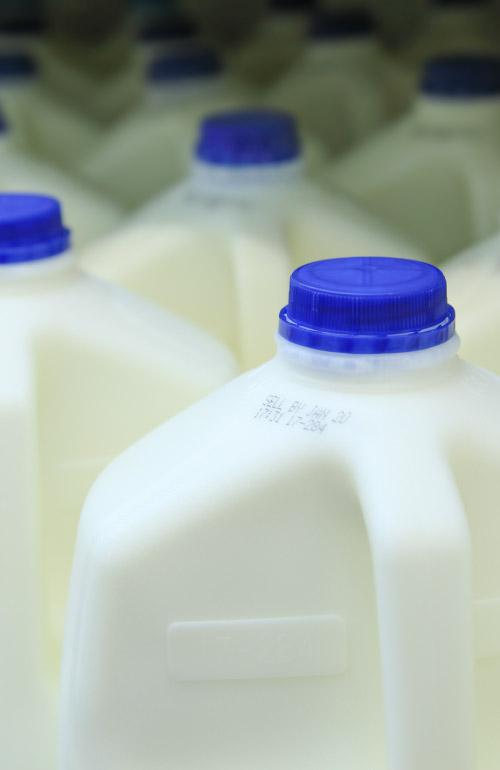 jugs of milk